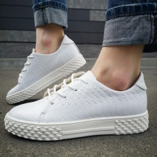 "Кеды женские белые кожаные ""Питон"" 0203"