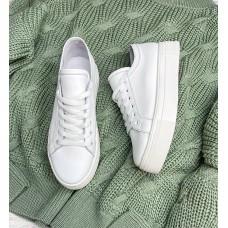 Кеды белые женские кожаные 0319 (образец)