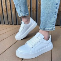 Кеды  белые женские кожаные 0325
