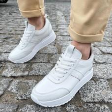 Кроссовки женские белые кожаные 0337 (образец)