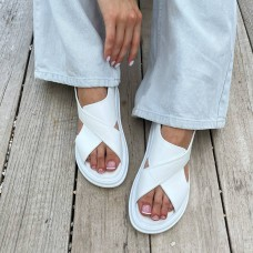 Босоножки женские белые кожаные 0448 (образец)