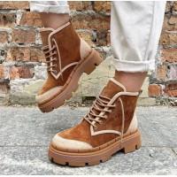 Женские ботинки замшевые 0493 (образец)