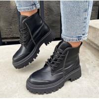 Женские ботинки кожаные 0494 (образец)