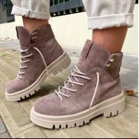 Женские ботинки замшевые 0506 (образец)