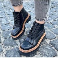 Женские ботинки кожаные 0519