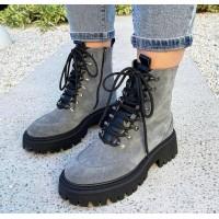 Женские ботинки замшевые 0543 (образец)