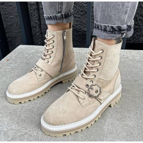Женские ботинки замшевые 0546 (образец)