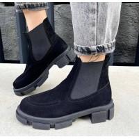 Женские ботинки Челси замшевые 0548 (образец)