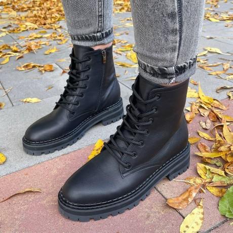 Женские ботинки кожаные 0551 (образец)