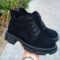 Женские ботинки замшевые 0252
