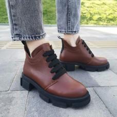 Женские ботинки кожаные 0255