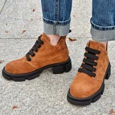 Женские ботинки замшевые 0256