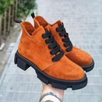 Женские ботинки замшевые 0257