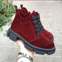 Женские ботинки замшевые 0258 (образец)