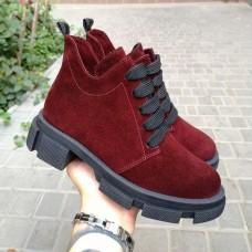 Женские ботинки замшевые 0258