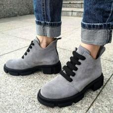 Женские ботинки замшевые 0260