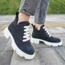 Женские ботинки замшевые 0261