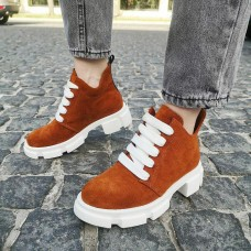 Женские ботинки замшевые 0262