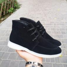 Женские ботинки замшевые 0265