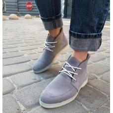 Женские ботинки замшевые 0266