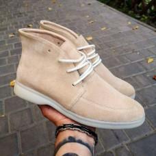 Женские ботинки замшевые 0267