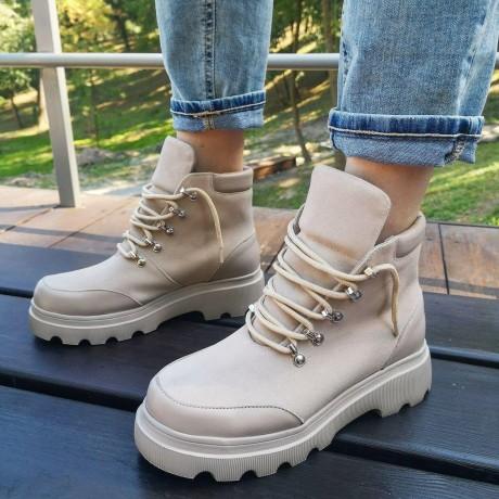 Женские ботинки замшевые 0269