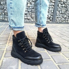 Женские ботинки замшевые 0270