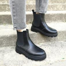 Женские ботинки Челси кожаные 0271