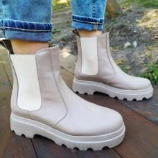 Женские ботинки Челси кожаные 0272